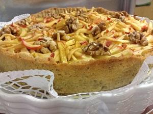 Apfel Tarte mit Mandelmilch
